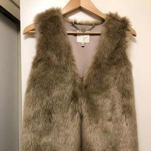 Joie Nimoy faux fur vest